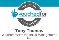 Tony Thomas Certificate Of Excellence