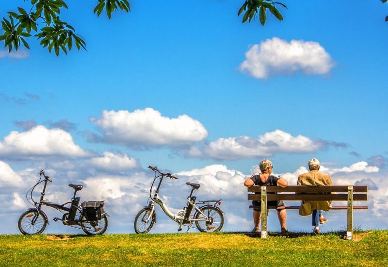 Pension Freedoms - Retired Couple out Cycling
